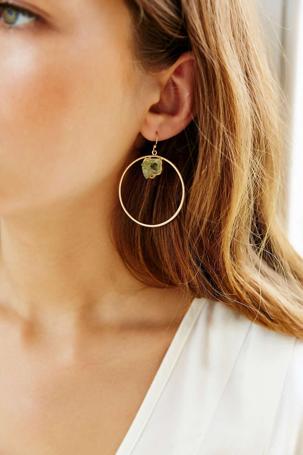 Roman Bath Crystal Hoop Earring (Urban Outfitters)