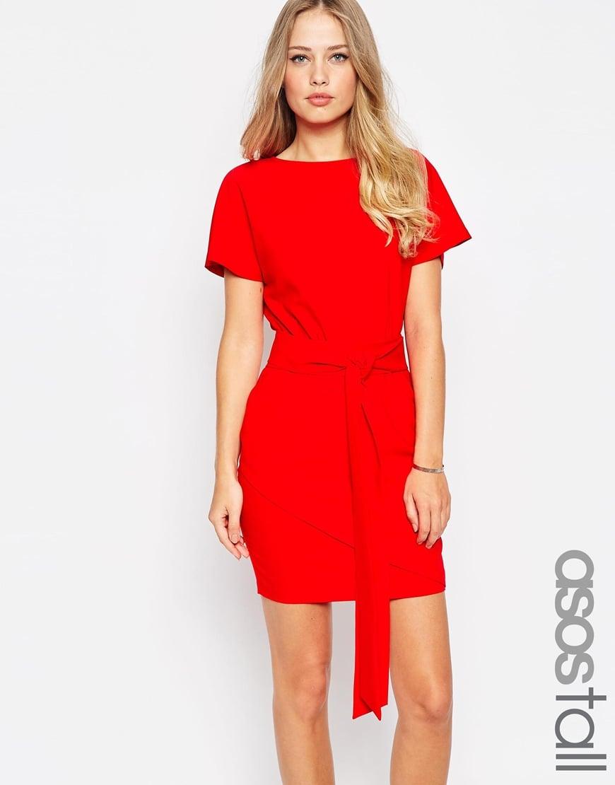 ASOS TALL Pencil Dress with Wrap Skirt and Obi Belt — $45.33