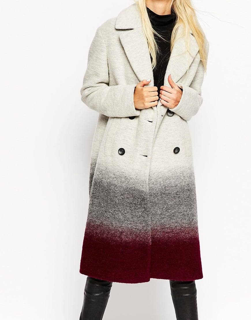 ASOS TALL Coat In Oversized Fit in Ombre — $131.72