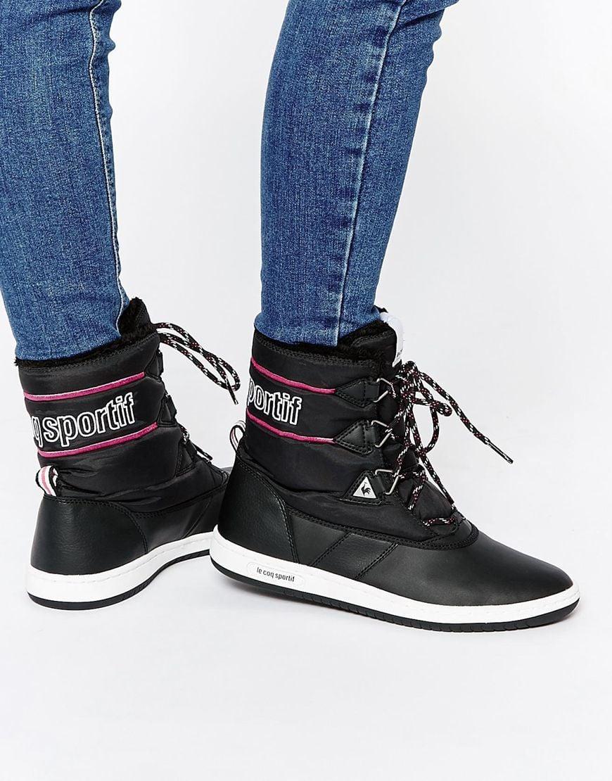 Le Coq Sportif Sainteglace Black Snow Boots — $83.82
