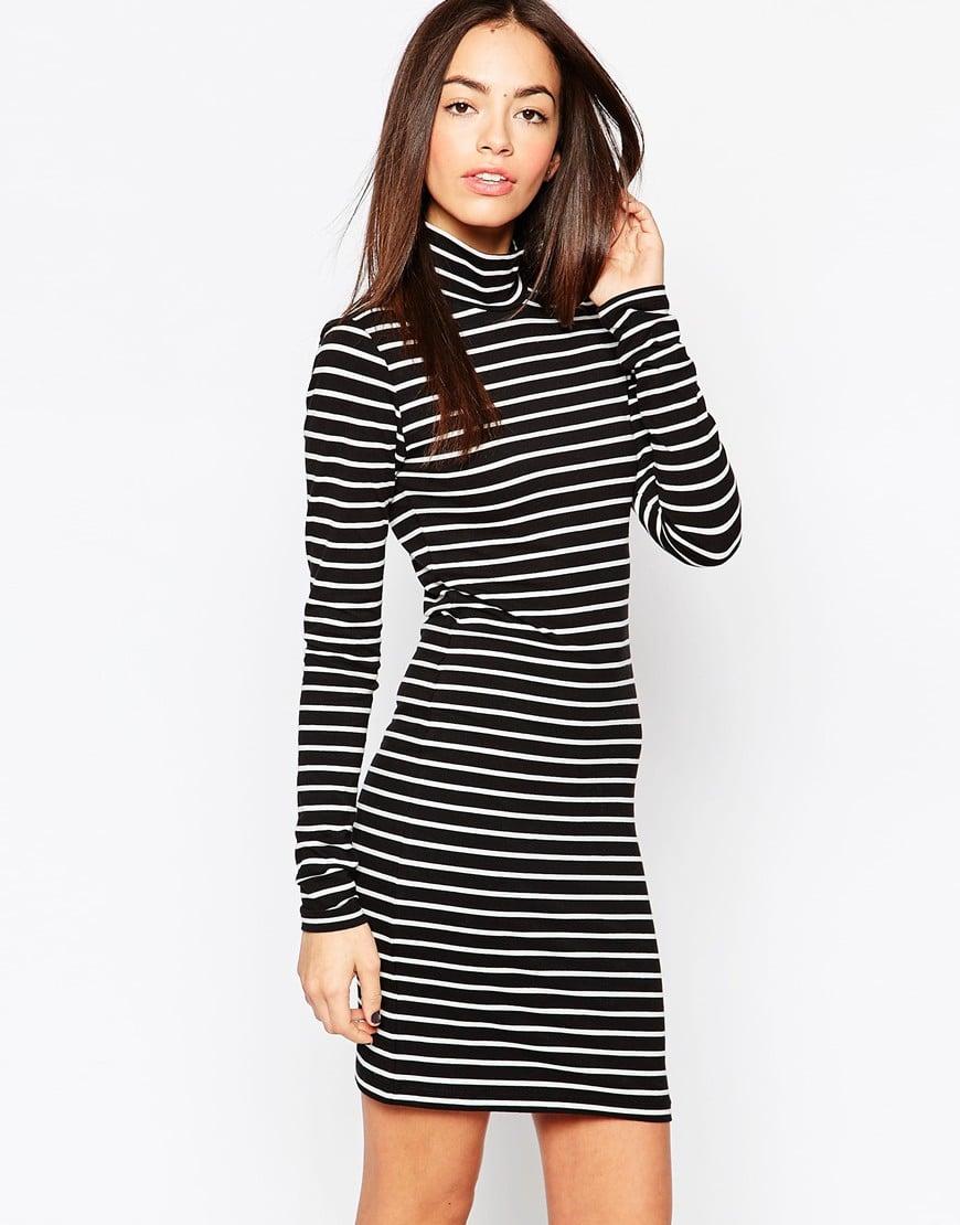 JDY High Neck Striped Body-Conscious Dress