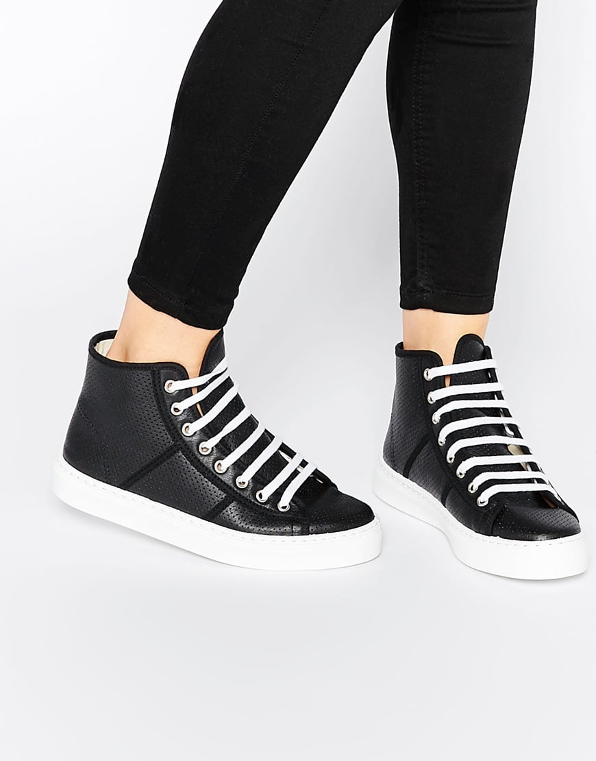 Park Lane Perf Leather High Top Trainers