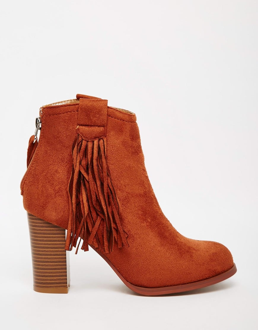 Truffle Collection Seren Fringe Heeled Ankle Boots
