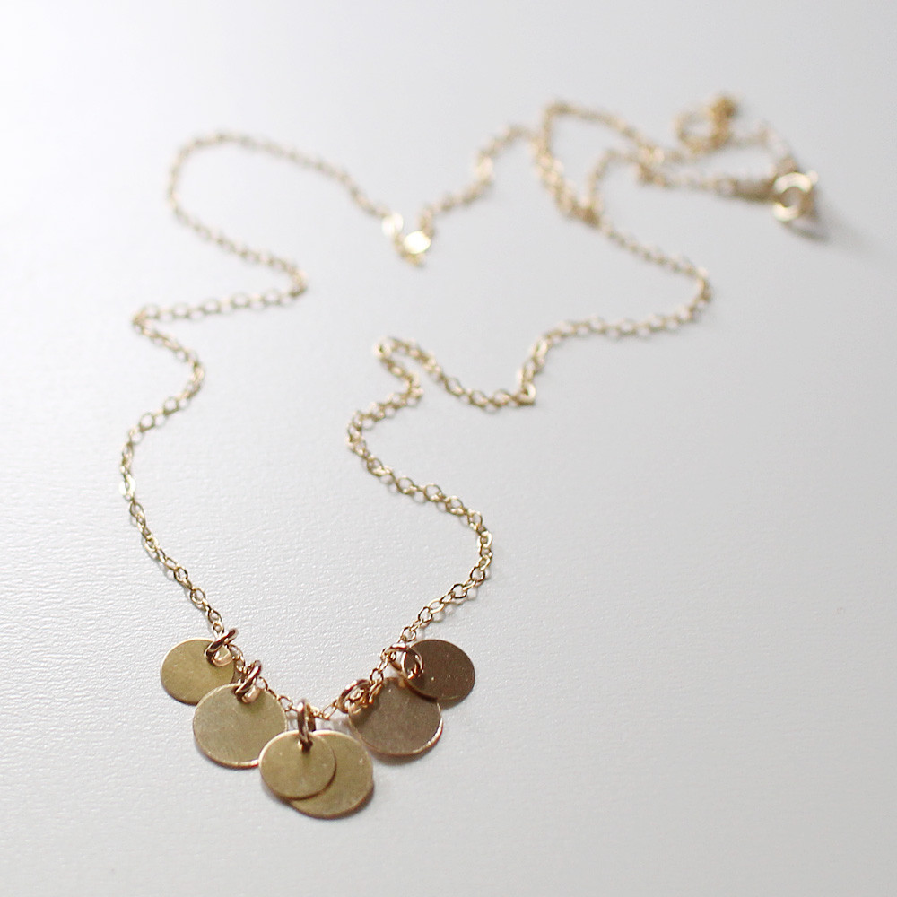 bellissima gold coin necklace — $42.00