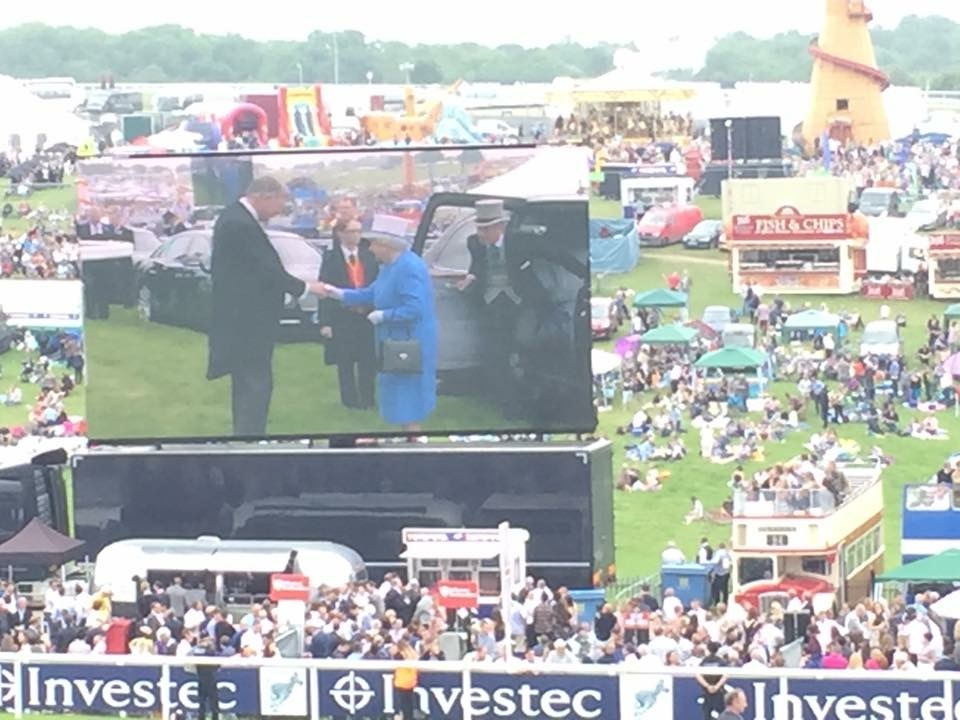 For the first time in my life I sang God Save the Queen in front of her, possibly the most patriotic I've ever felt!