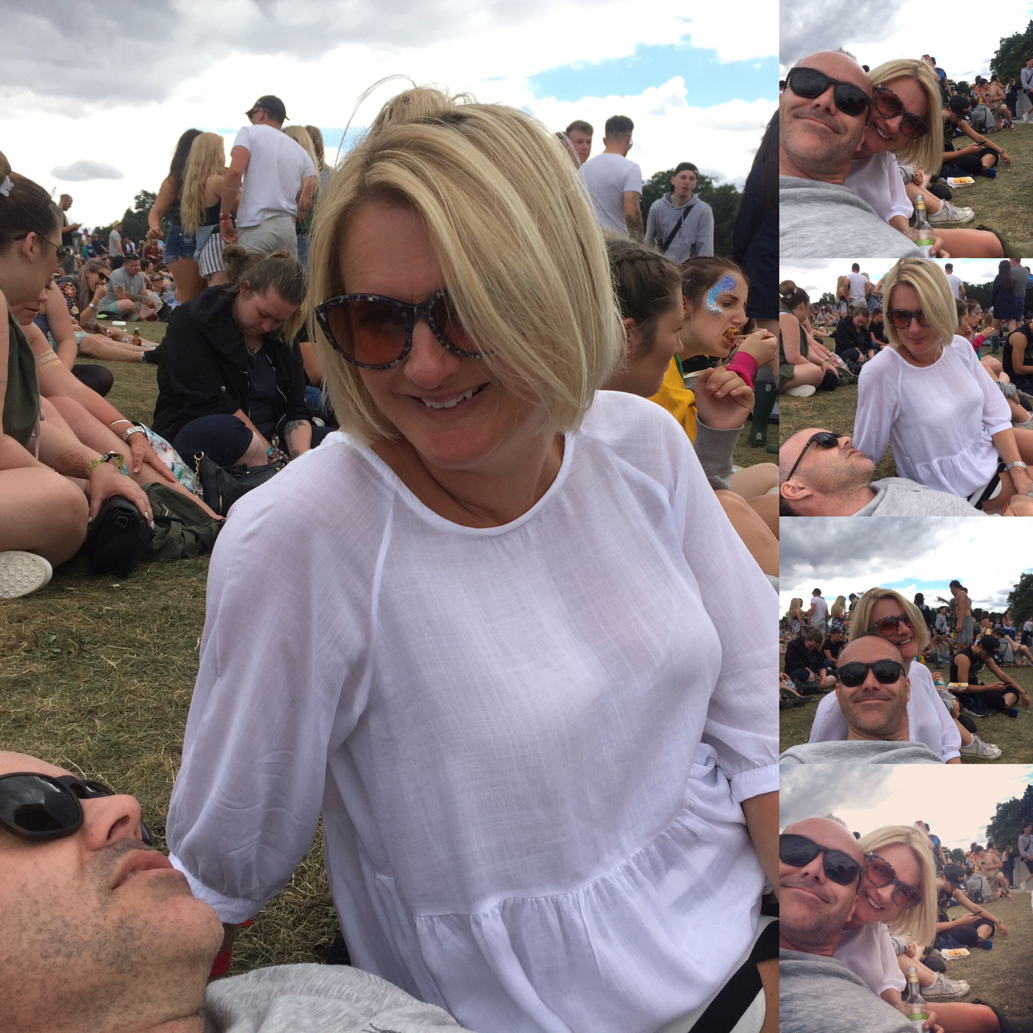 I truly hadn't expected any of it to be chilled out and relaxing,but it was just lovely sitting on the hill with my hubby watching artists I'd never heard of but loving it!