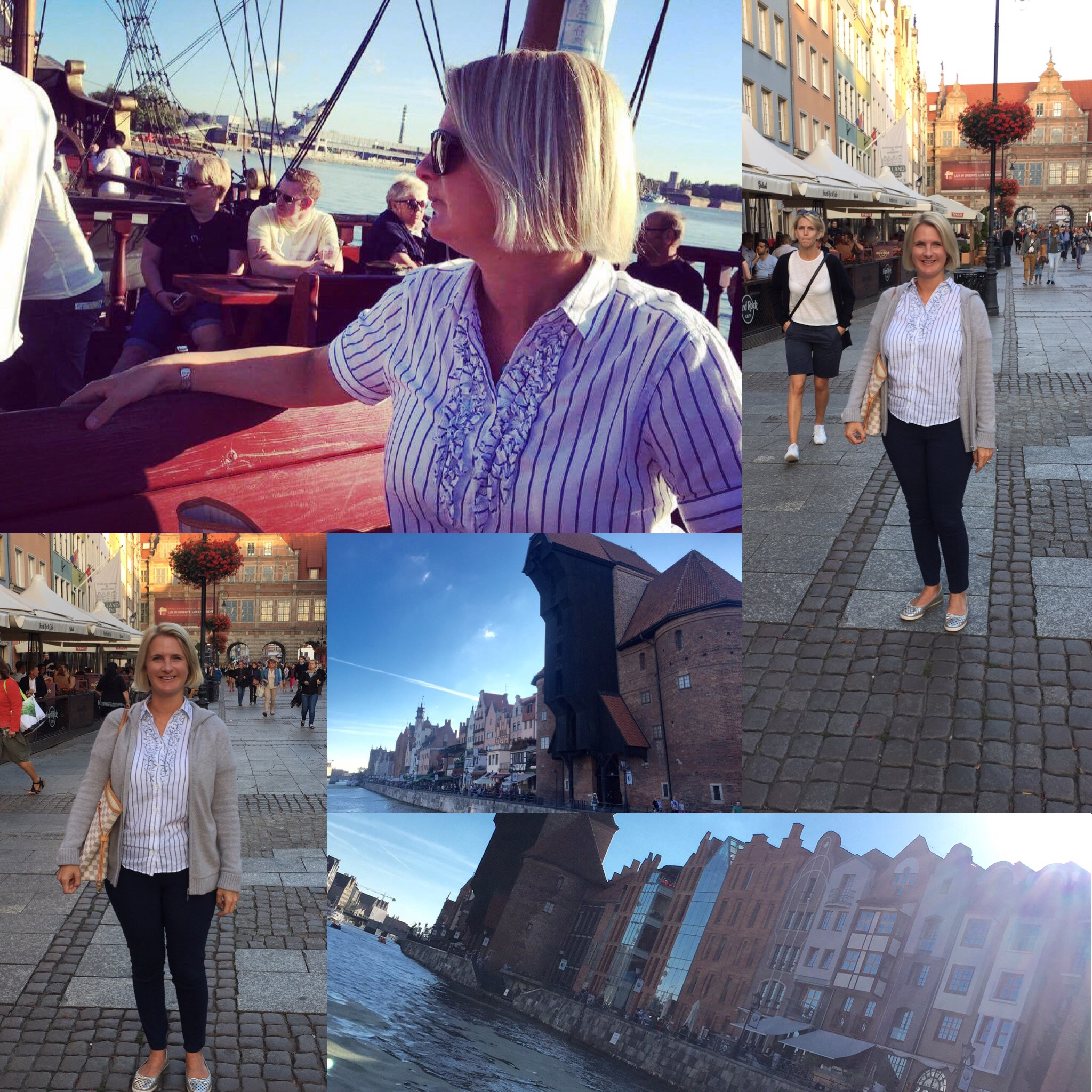 Gdansk is a stunning, stroll round this beautiful city taking in all the sights it has to offer plus take a trip down the river on a Galleon to Westerplatte, The landing point at which WW2 broke out.  ABOVE; Cardigan from TK Maxx, Blouse from Gant, Trousers from Primark, Shoes from Tory Burch, Bag from LV.  BELOW; Jumper from The White Company, Trousers from Next, Shoes from Tory Burch.