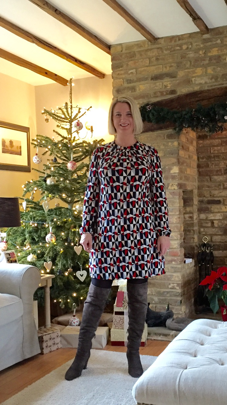 Dress form Dorothy Perkins, Boots from LK Bennett, Weight gain - all my own hard work ;)