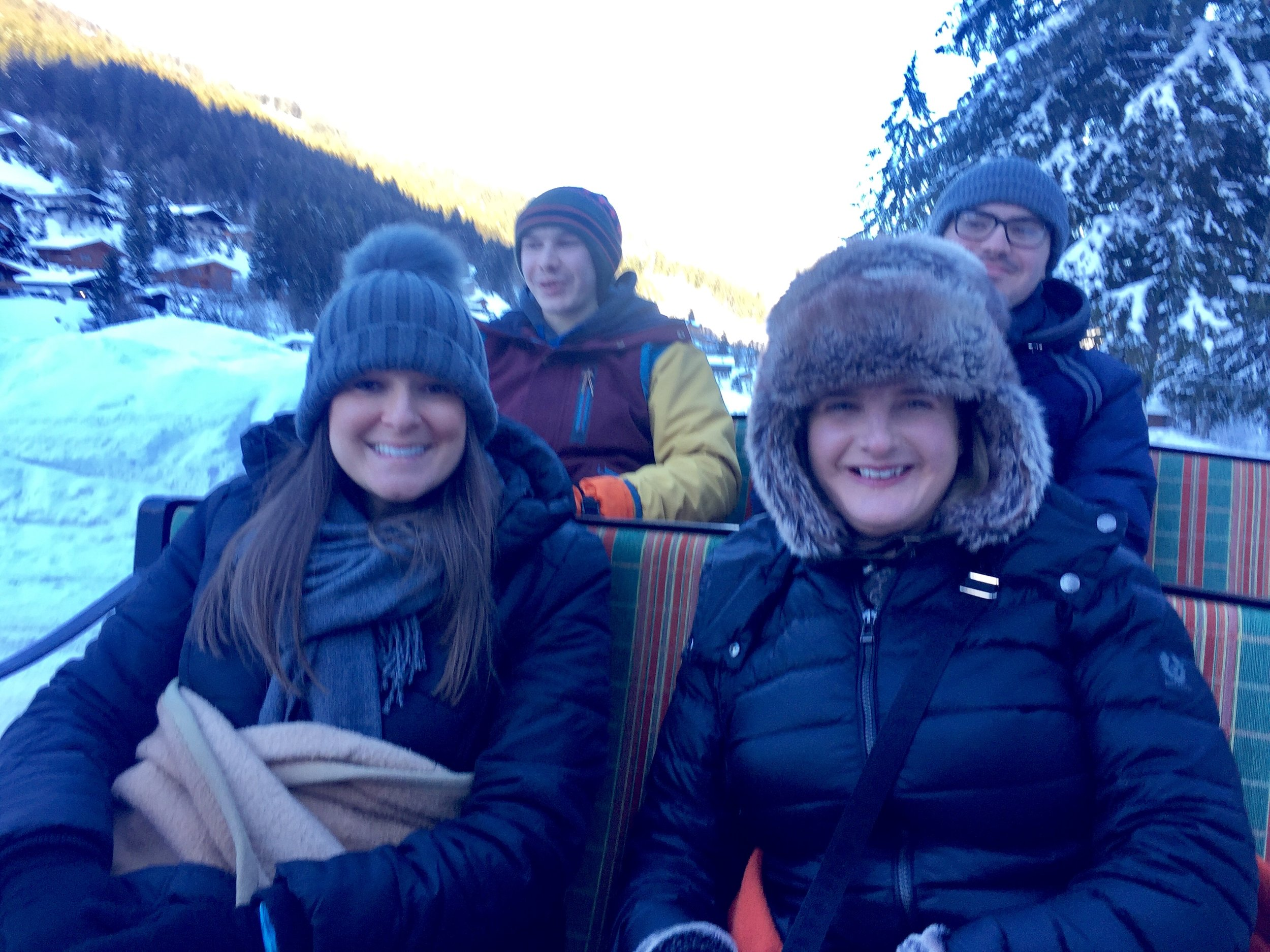 A horse drawn sleigh ride in the mountains was probably the highlight of my week. I would wholeheartedly recommend a trip to Baumzipfelweg and Golden gate bridge (Hinterglemm, Austria.if you happen to be passing)