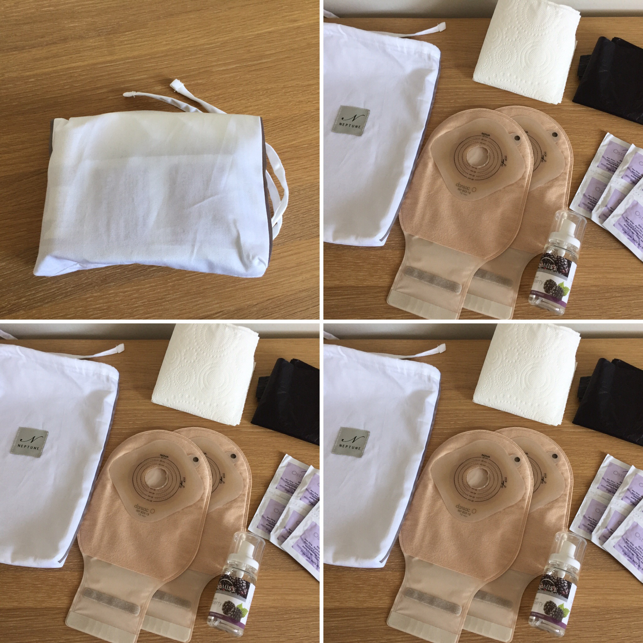 Knowing it would be a long day I packed two spare colostomy bags. To keep the weight I had to carry down to a minimum I pre cut my bags to save taking scissors, as they'd likely be taken off you at the gate anyway. I took Ostoguard wipes for removing the bag instead of spray, and I took a small bottle of room spray, although I wouldn't have needed it, you wouldn't have notice any smell I produced over the smell of the loos anyway. :0  All neatly stowed in a little pouch that I put in my little rucksack.  And to finish off the weekend nicely we met up with Kim and the twins for a lovely Sunday roast. To which I wore my normal (boring?) clothes and no tail...