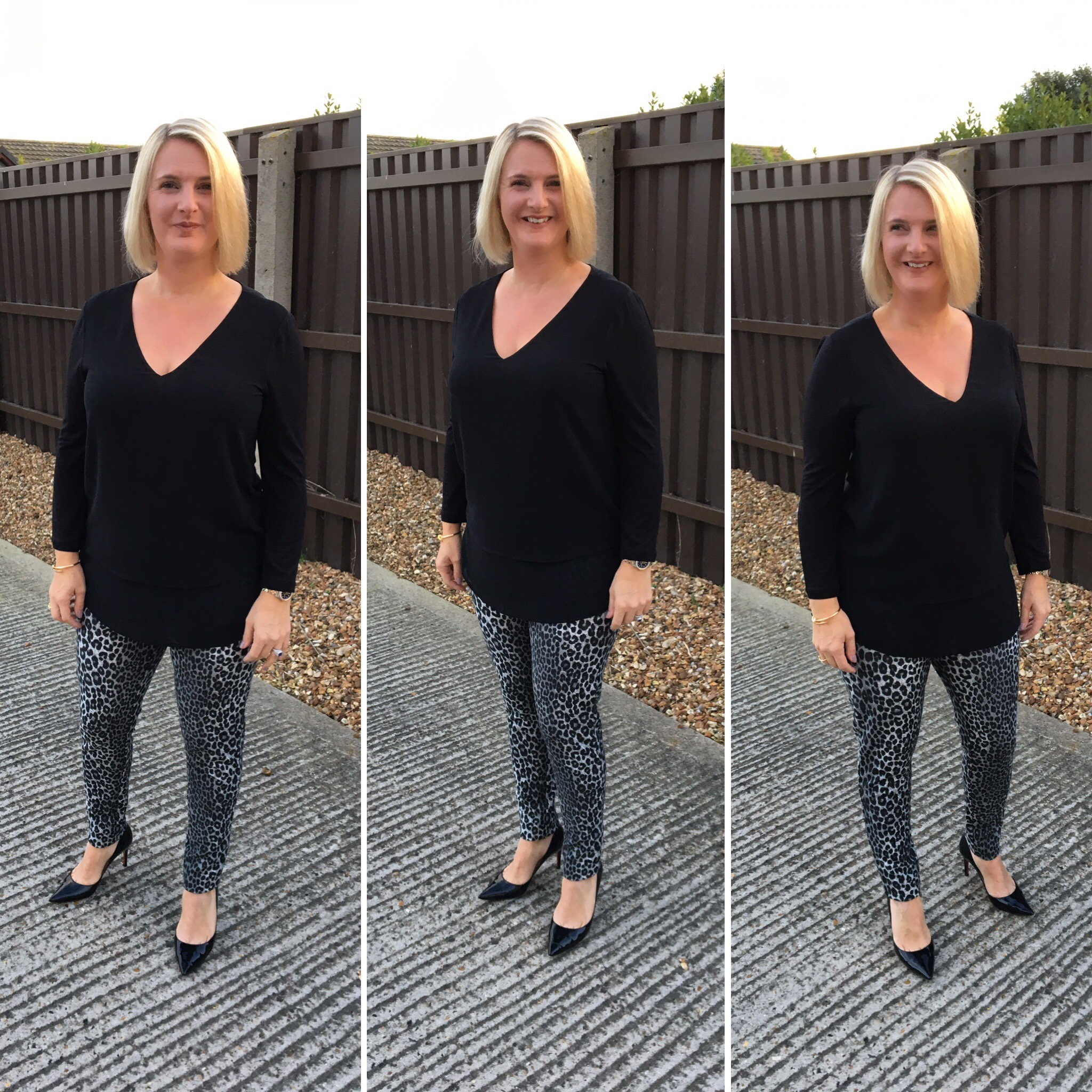 Top and Trousers from Michael Kors, Shoes from Christian Louboutin