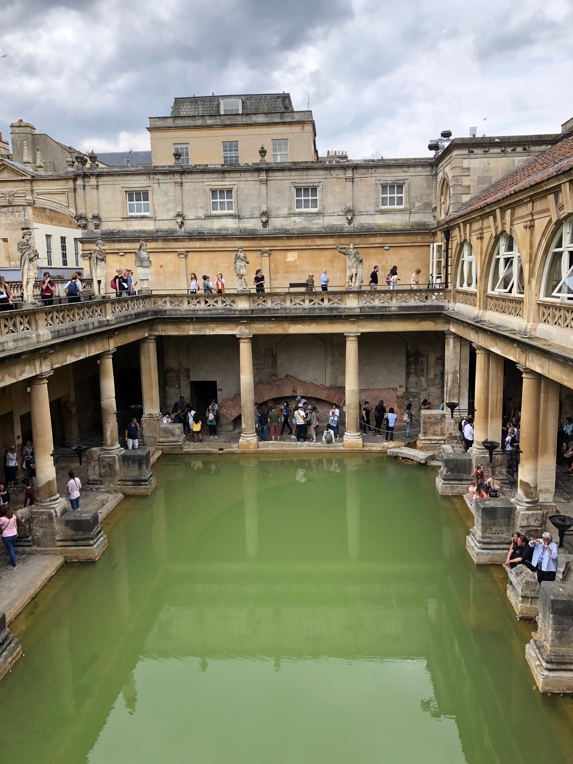 The Roman Baths are incredible feats of engineering. They are the largest hot baths the Romans built in their entire empire due to the fact they had a plentiful supply of hot water from the natural hot springs. They were very clever those Romans.
