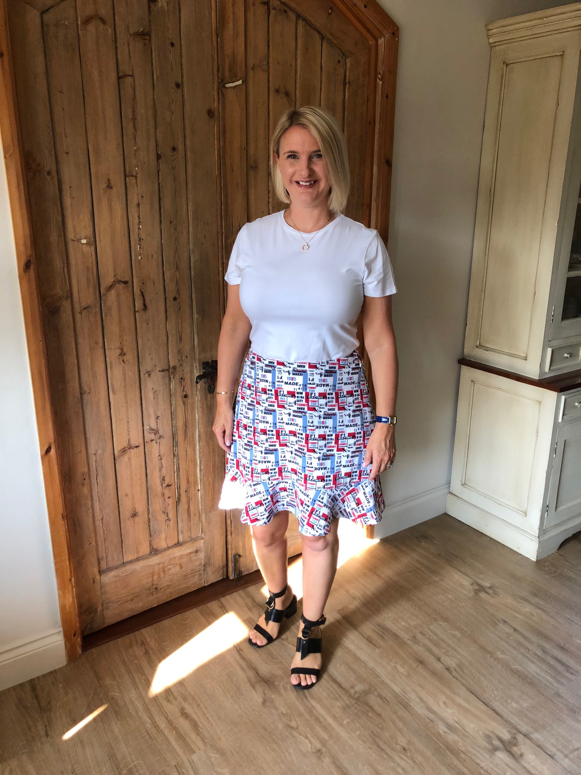 Top from M&S, Skirt from Tommy Hilfiger, Shoes from Chloe