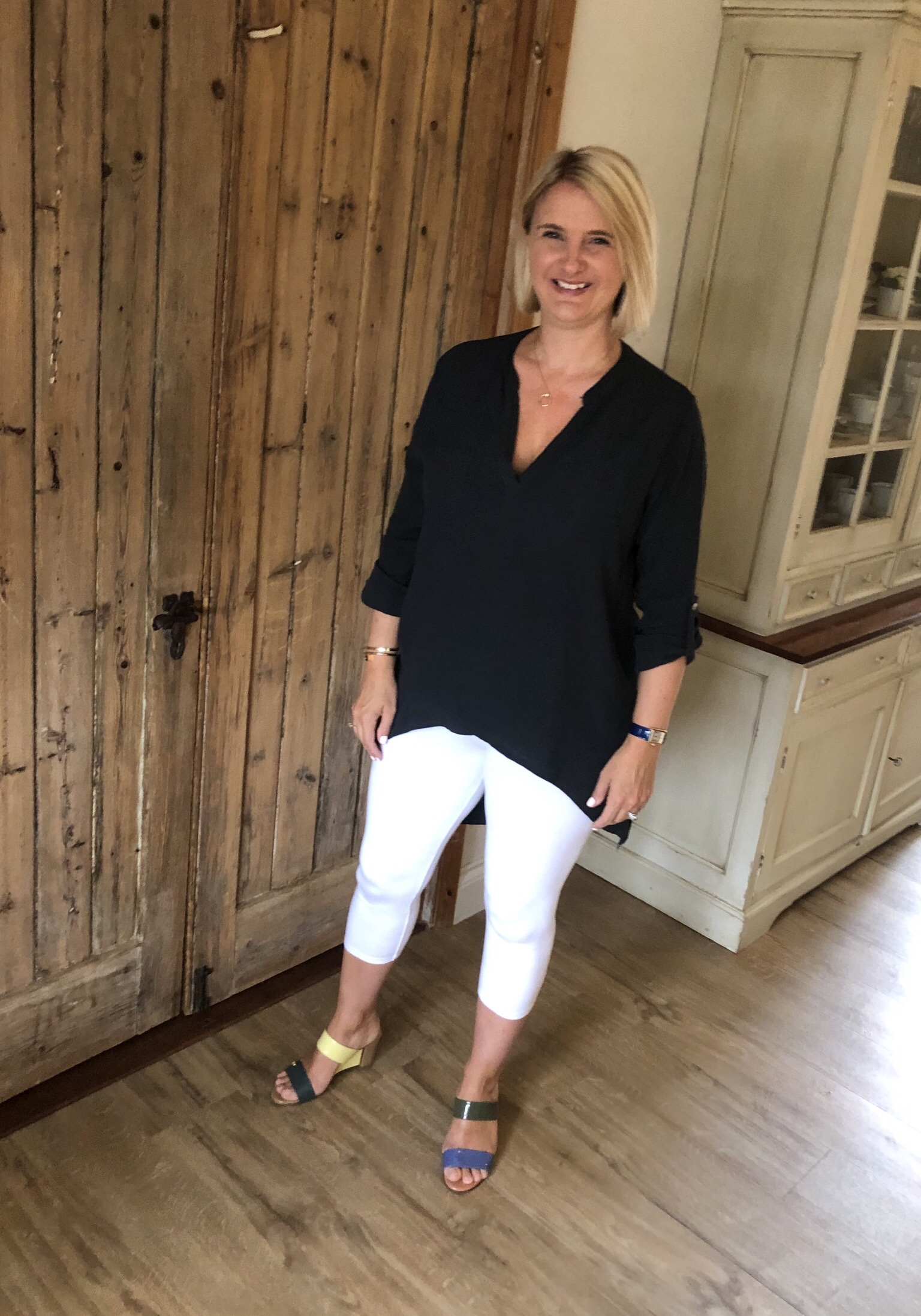 Top from TK Maxx, Leggings from Next, Shoes (both pairs) from Fendi (in the name of doing just as I please, I mixed and matched both pairs of shoes).