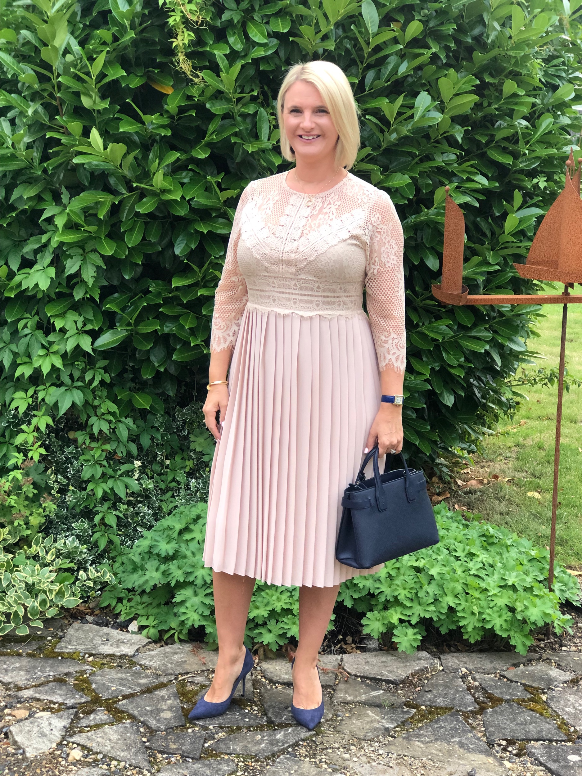 Dress from Zara, Shoes from Jimmy Choo, Bag from Burberry