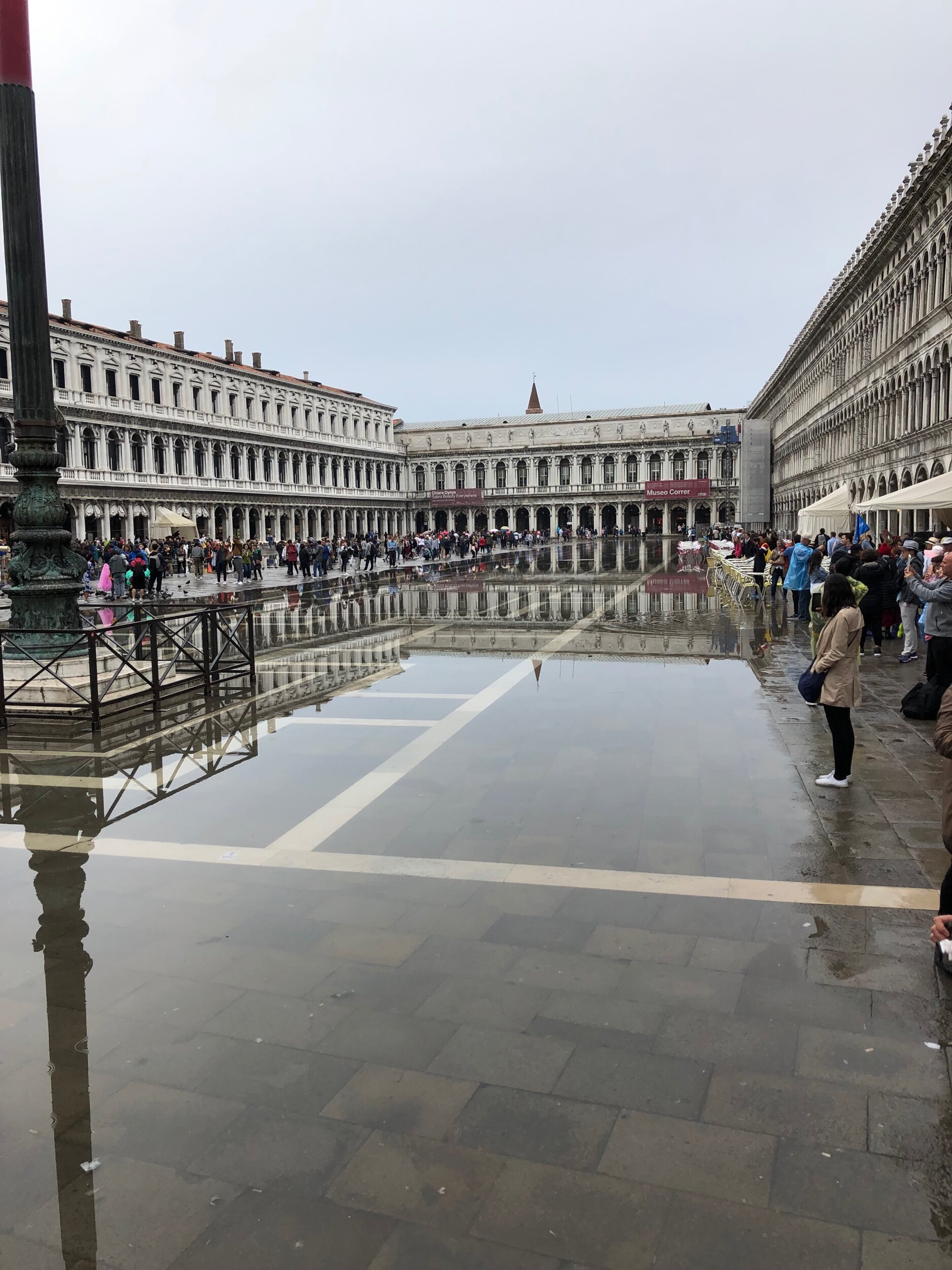 A partially flooded St. Mark's Square.