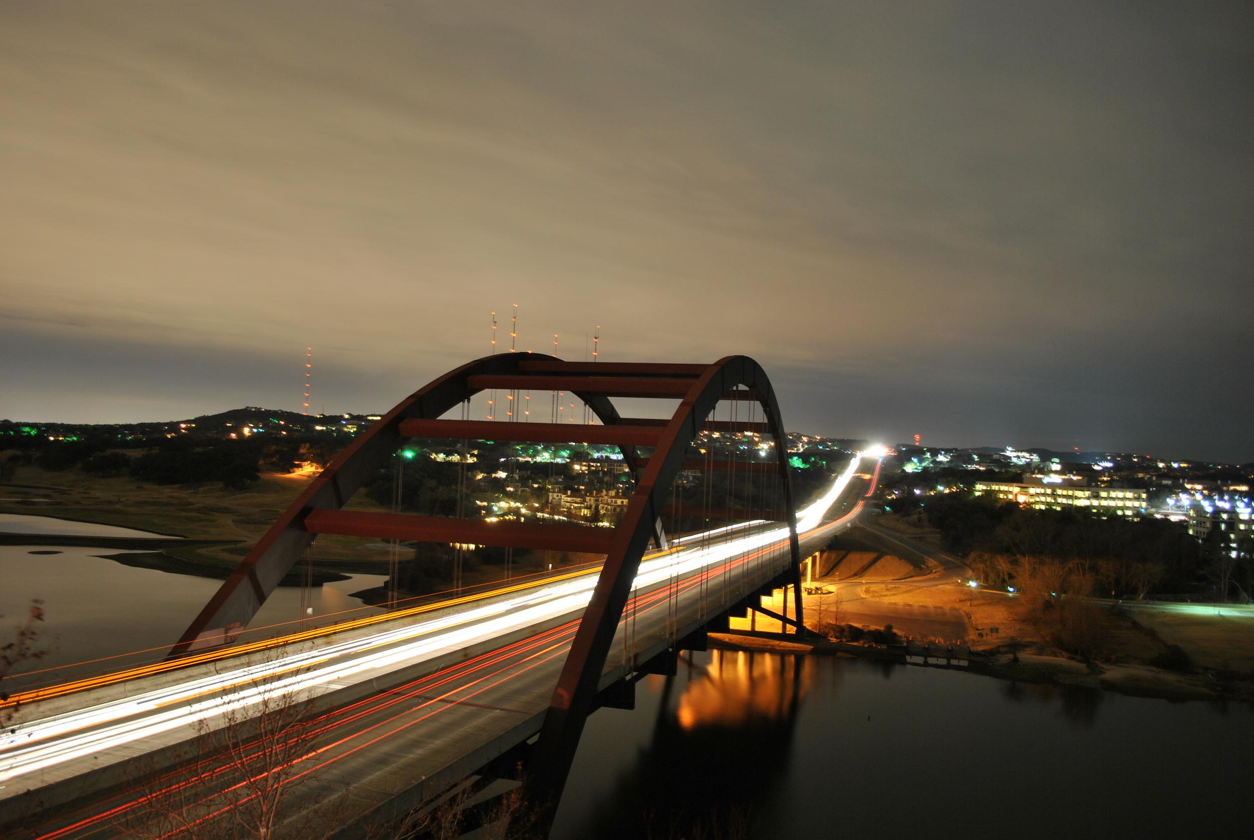 Pennybacker Bridge | Austin, TX |Taken with Nikon D3000 (Digital)