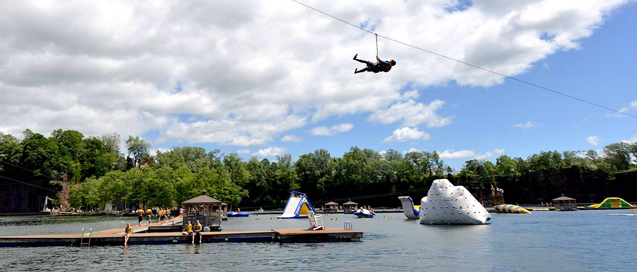Monday: Brownstone Park ($40) - Brownstone Park is a water park which includes: Swimming, Hiking and Biking, Kayaks, Cliff Jumping, Rock Climbing, Zip Lines, Waterslide, Rope Swing, Scuba Diving, and Inflatable Obstacles.Evening: Free time + Free PizzaBrown Stone Waiver - Link
