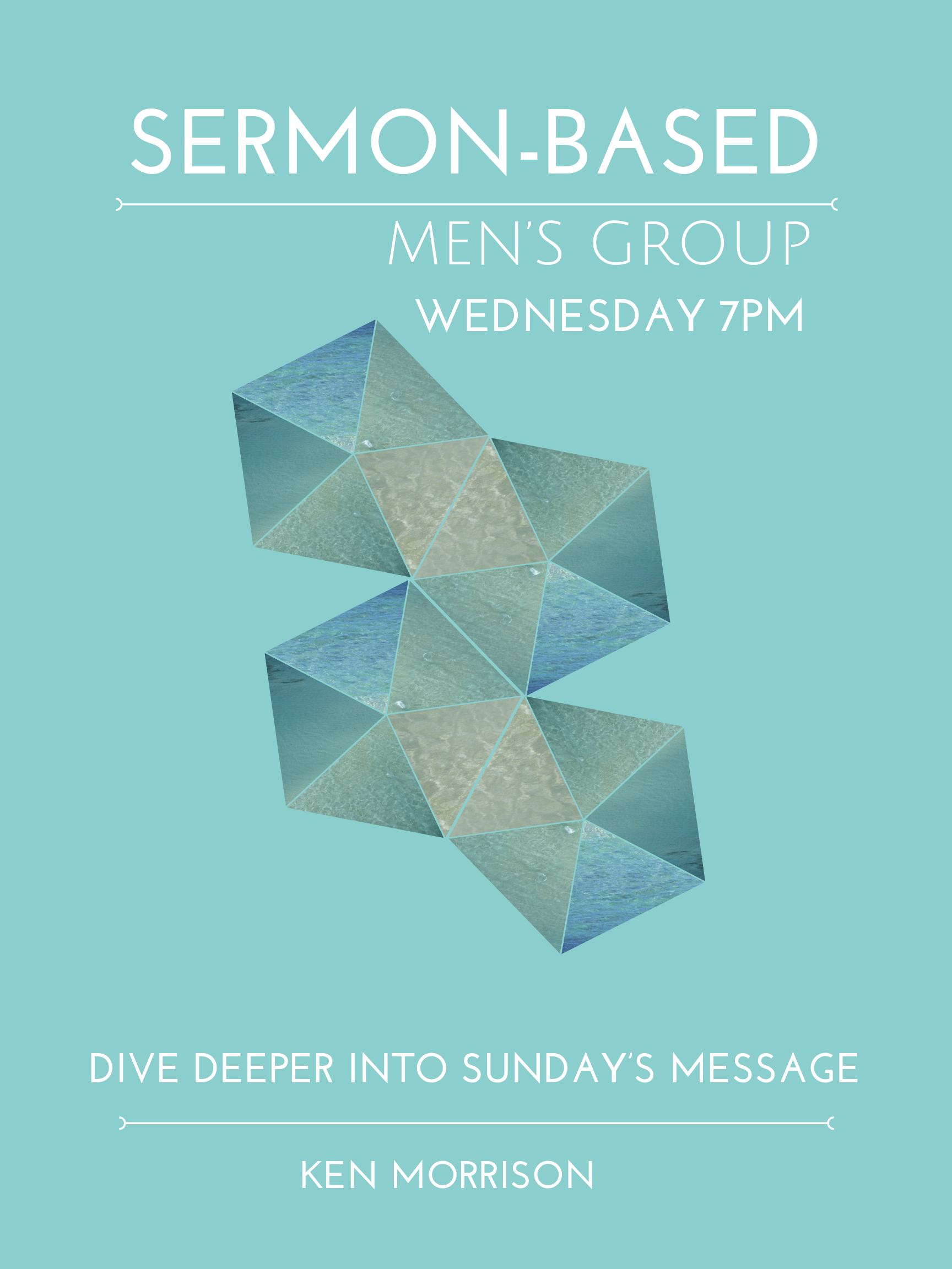 Men's Sermon-based Group - Join other men each week to dive deeper into Sunday's message. Learn what others are doing in their faith journey. Learn best practices from those in different seasons of life. This group meets each Thursday 6:30PM FCKen Morrison and Matt Vogt