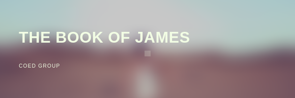 This group will study the book of James. James has been called the Proverbs of the New testament. The book of James shares wisdom we can all use daily in our lives. The Coed group will meet  Thursdays  at  6:30PM  125 Prospect Hill Road, Colchester.   FREE CHILDCARE    Arnold and Stacy Ewings