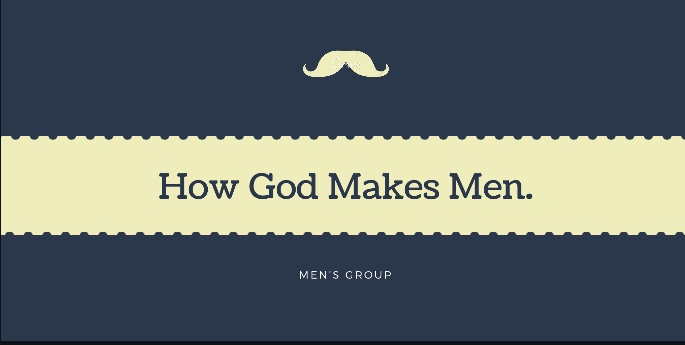 How God Makes Men Men's Group - Ten epic stories. Ten proven principles. One Huge promise for your life. --God takes strong men, breaks them down and makes them weak. No man wants to go through this, but this is the path to being used by God. Pat Morley, the author of this book study, has experienced this and understands the process. For the man who is broken and confused, How God Makes Men will bring hope, healing, and biblical clarity.Join other men each Tuesday evening 7:00PM FC Upper StairwellKevin Wilhelm and Casey McLeod