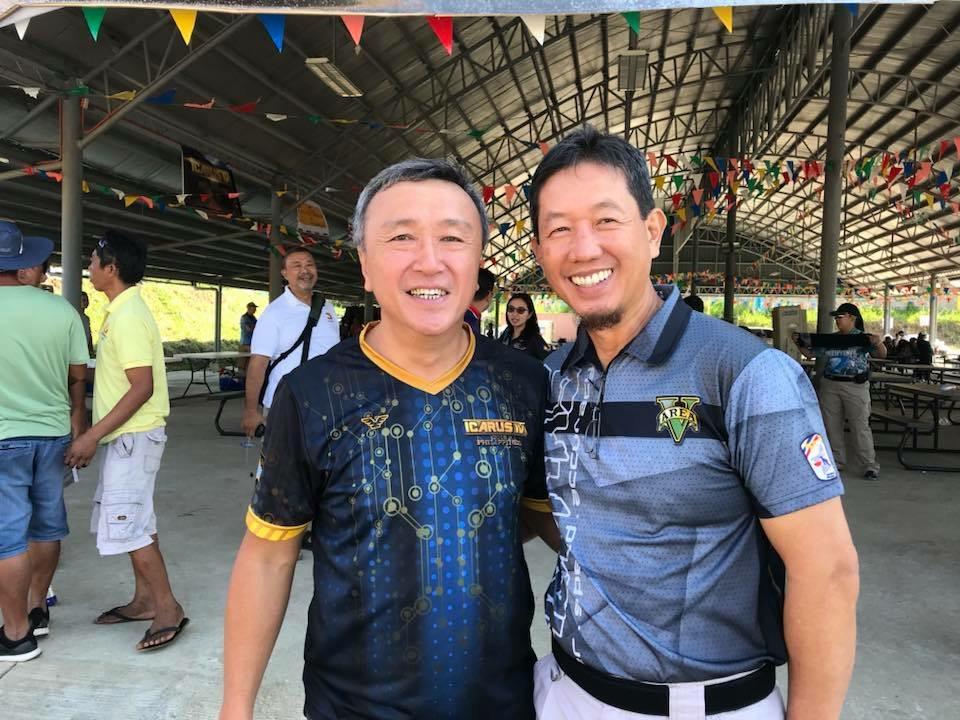 Icarus Shirts President Joseph Li with Gen. Robert Po