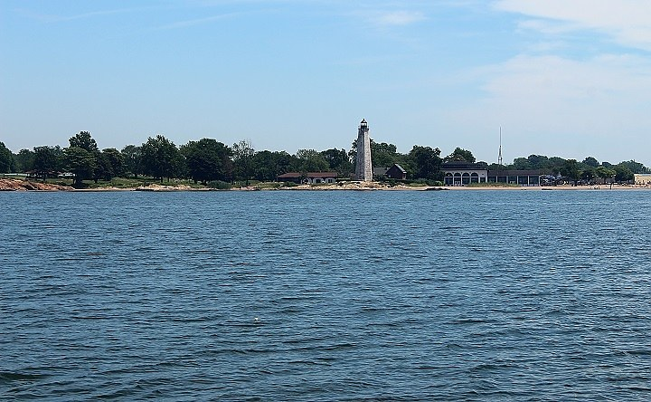 A view of Lighthouse Point Park from the Amistad