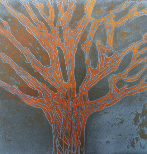 Flaming tree Etching Unframed £200