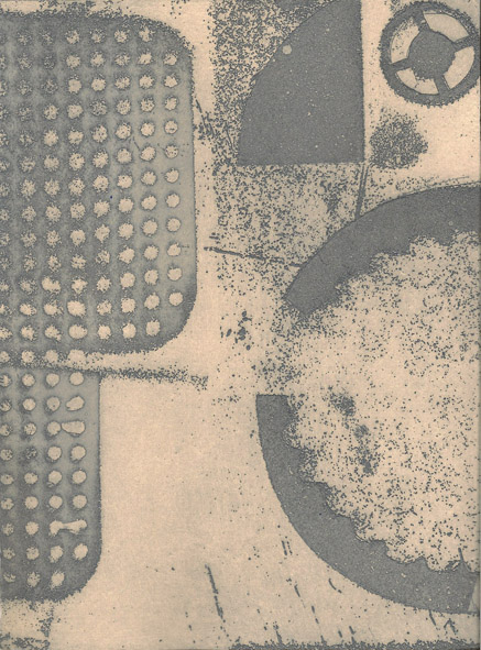 Flying Pan Handle Grey Etching Unframed £175