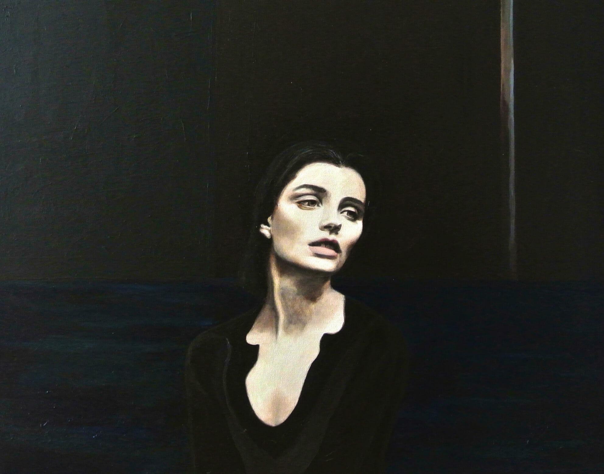 Blue Hour I, 60x70x4 cm, Malerei, © Ute Latzke, Preis: 1200 Euro.