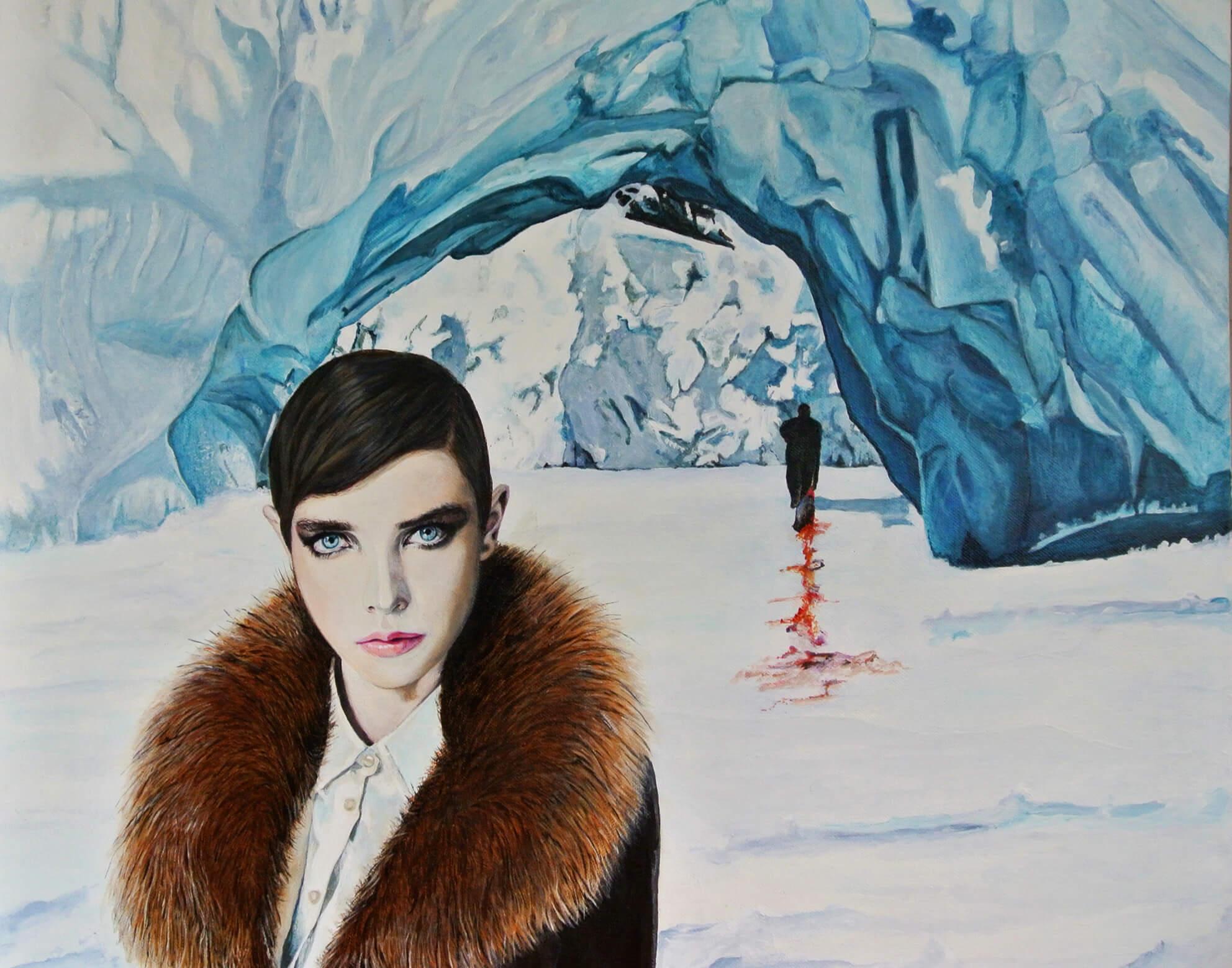 The Icequeen, 50x60x4 cm, Malerei, © Ute Latzke, 2015, Preis: 1100 Euro.
