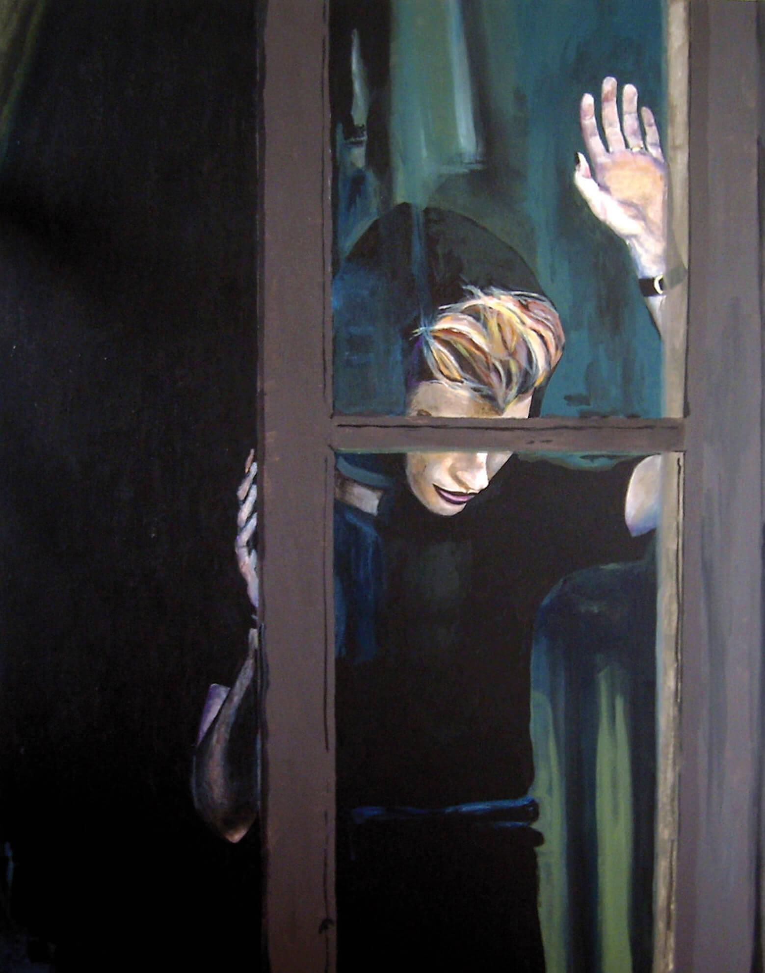 Window, 70x50x4 cm, Malerei, © Ute Latzke, verkauft.