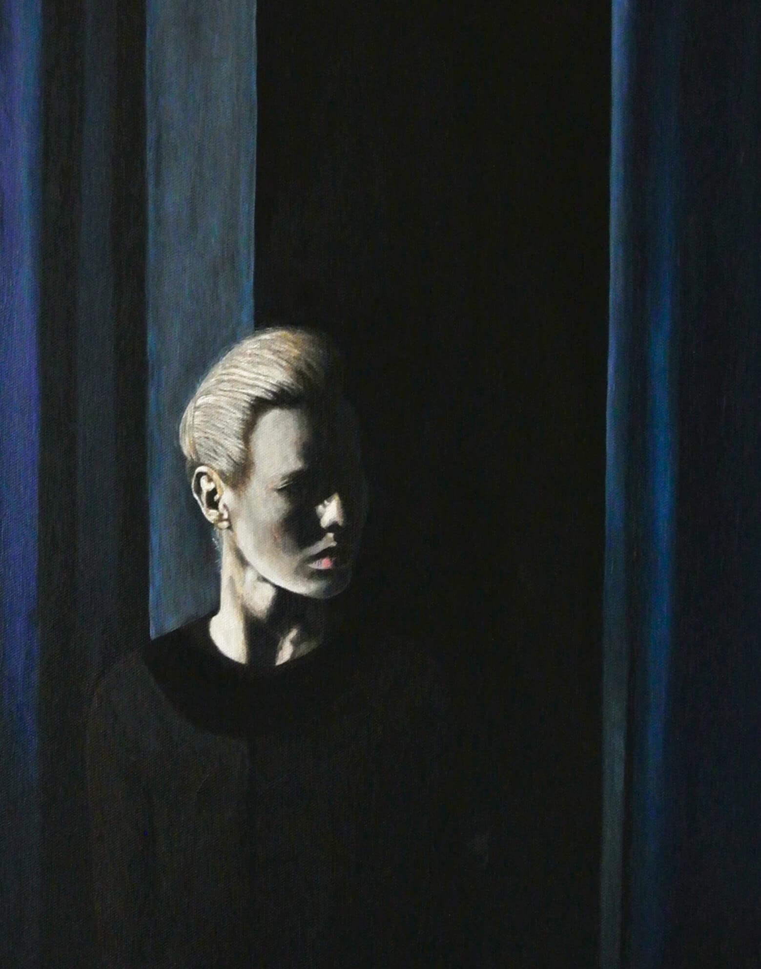 Blue Hour II, 60x40x4 cm, Malerei, © Ute Latzke, Preis: 750 Euro.