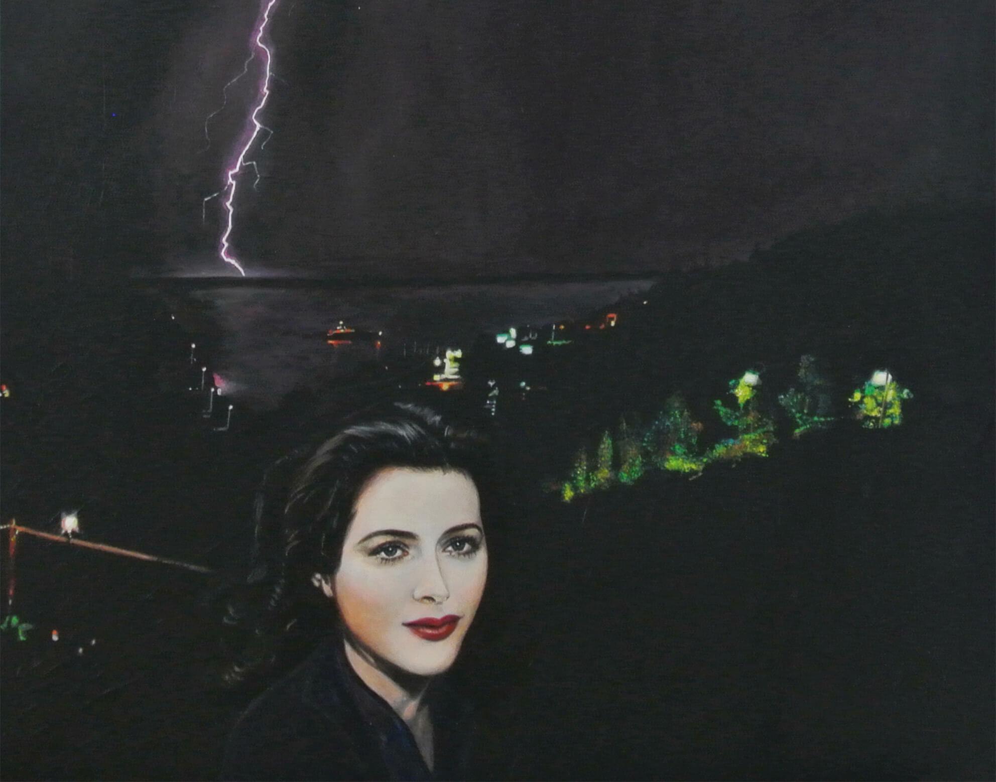 The Legacy of Hedi L., 50 x 60 x 4 cm, Malerei © Ute Latzke, Preis: 1100 Euro.