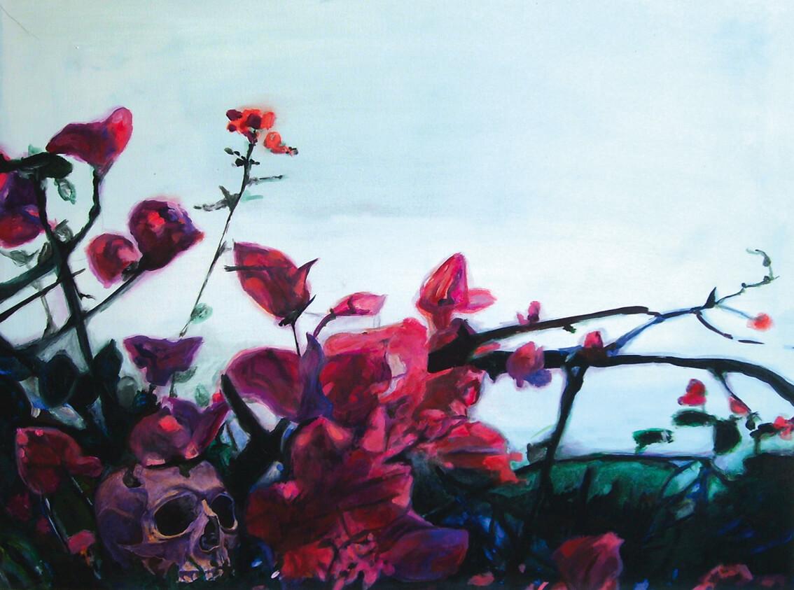 Vincent, 70 cm x 90 cm x 4 cm, signiert auf der Rückseite, 2010, Unikat, 1100,- Euro