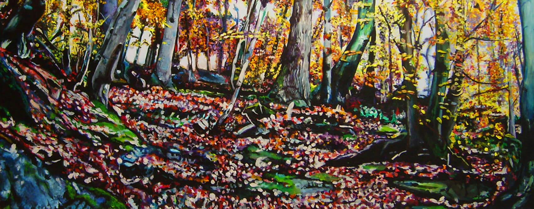 Zauberberg, Acryl auf Leinwand, 50x100x4 cm, 2010, 1300 Euro, verkauft.