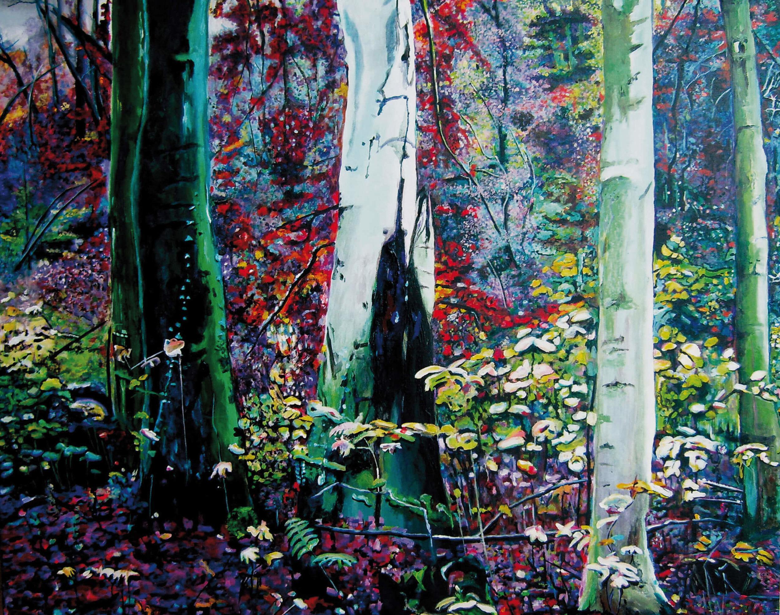 Zauberwald, Acryl auf Leinwand, 80x100x4 cm, 2010, 1800 Euro, verkauft