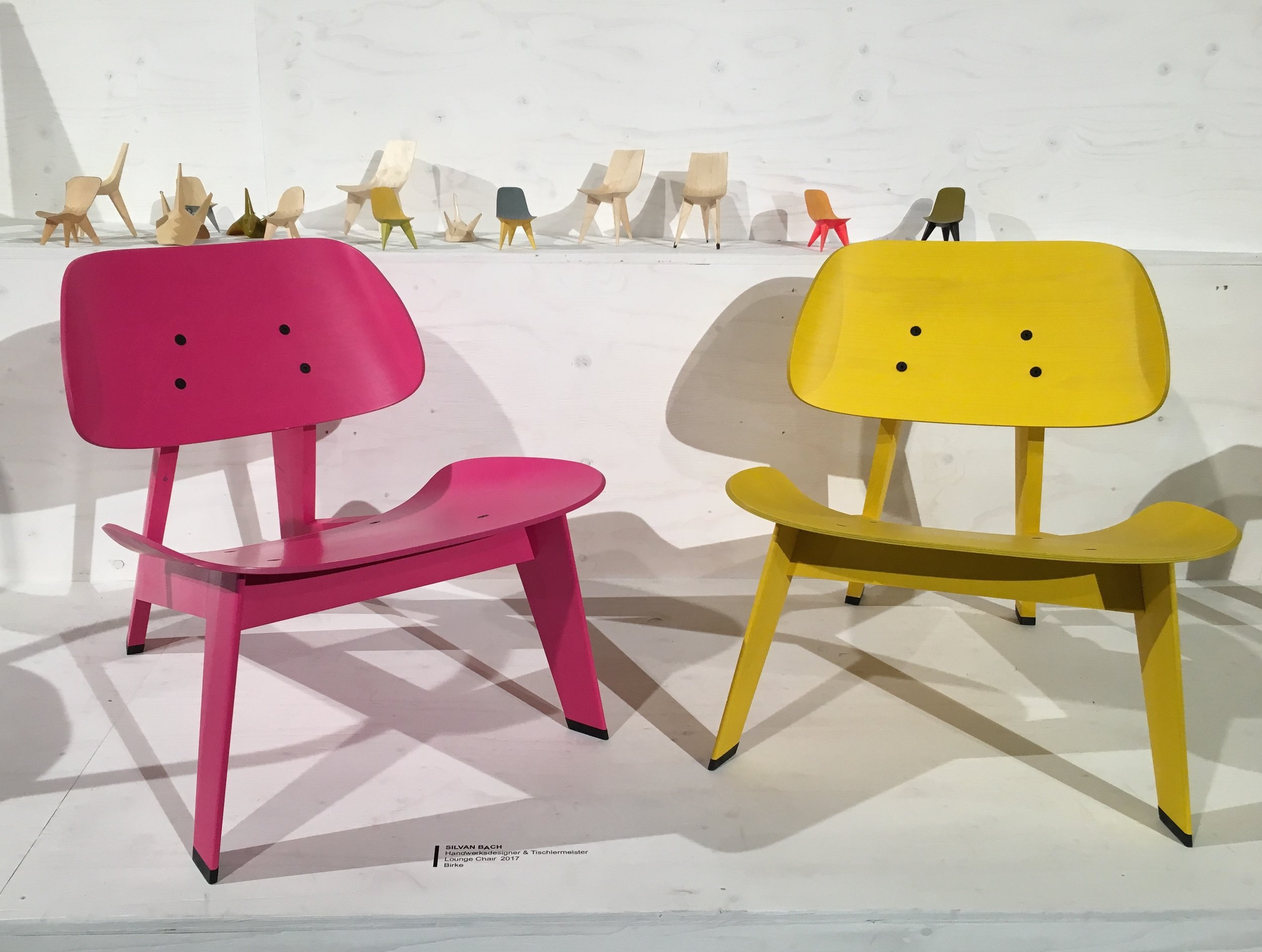 Stuhlentwürfe von Silvan Bach, Foto: U. Latzke
