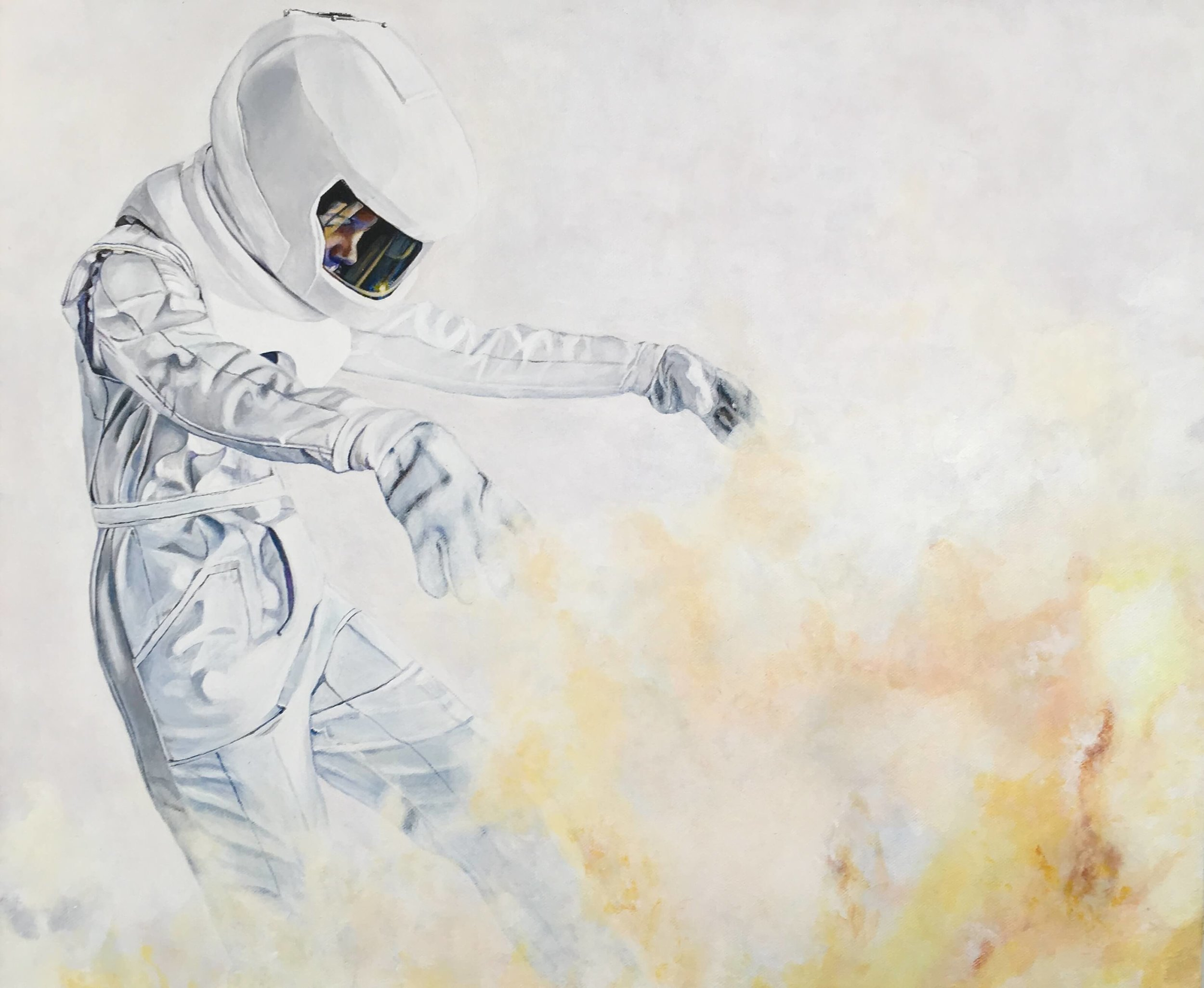 Ignite, 50x60x4 cm, © Latzke, Malerei, 2018, 1.250,-