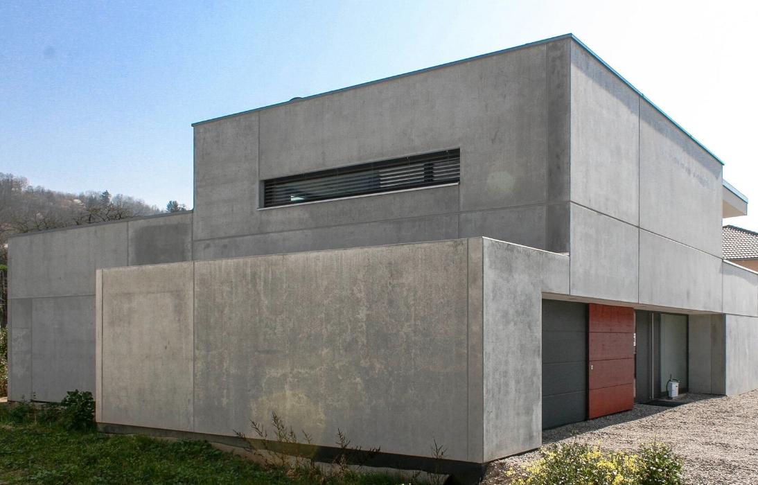 Seitenansicht des Einfamilienhauses, Entwurf: Schaudt + Lamprecht architekten, Foto: S. Drescher