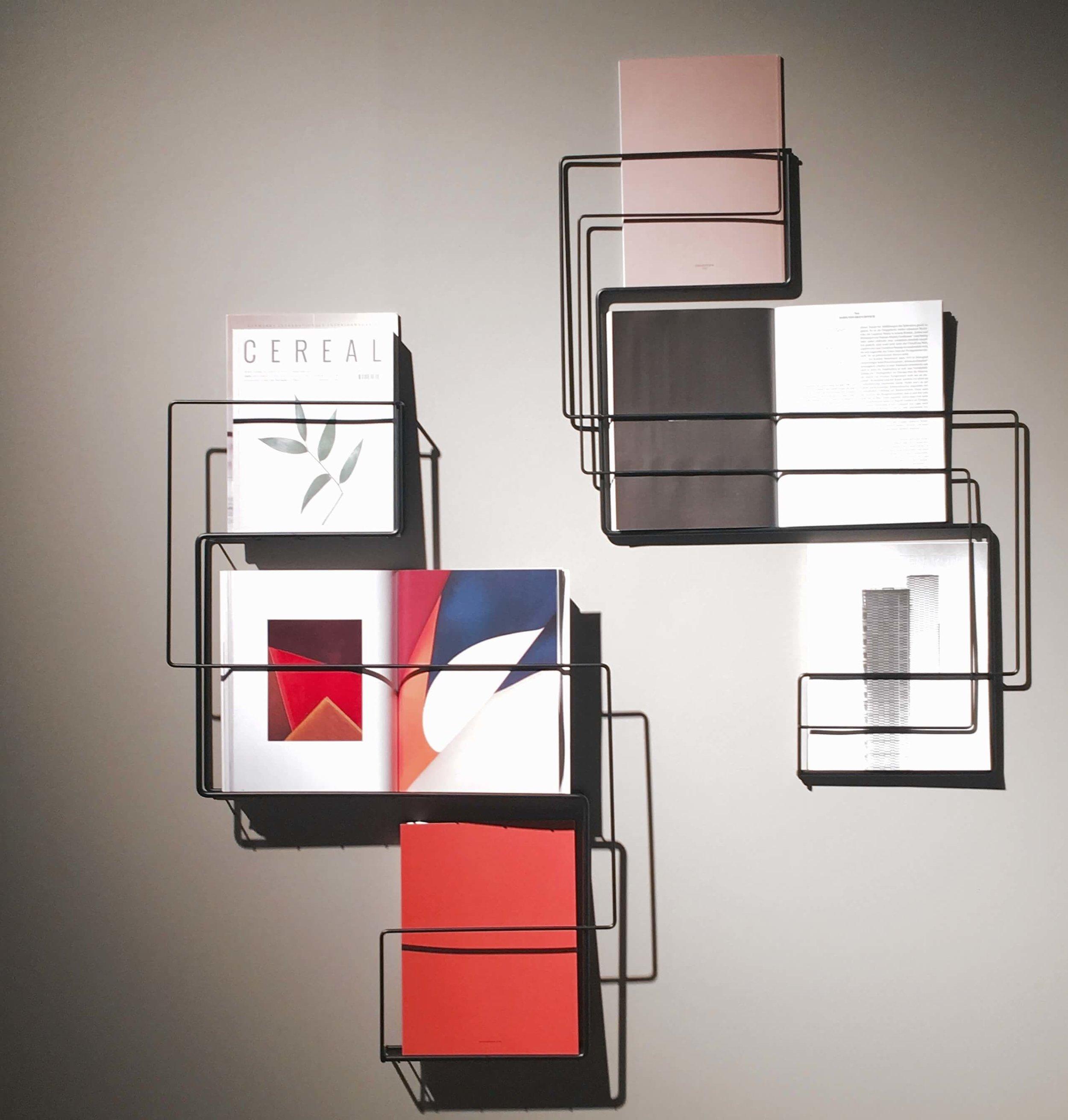 Wire Zeitschriftenregal aus Stahldraht, Entwurf von Pure Talent Anna-Maria Nilsson