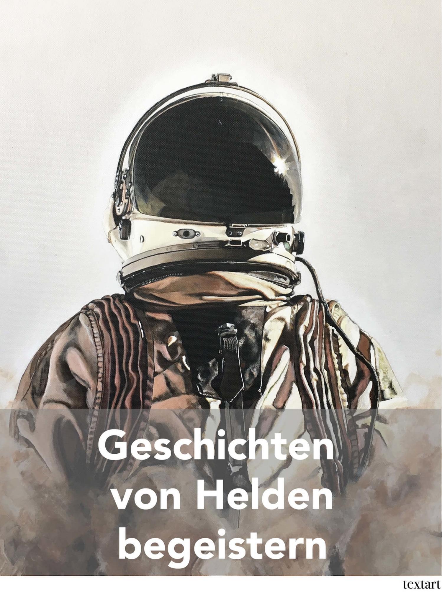 """Ausschnitt aus """"Ripley"""", Serie: Space Man, 2018, © Ute Latzke textart, verkauft"""
