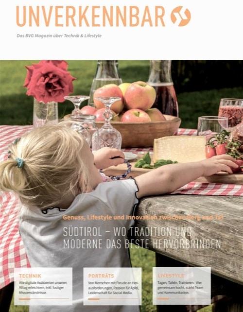 BVG Kundenmagazin Unverkennbar, Ausgabe Südtirol