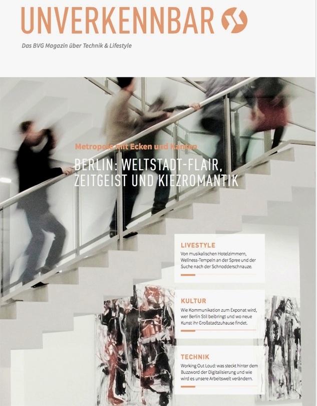 BVG Kundenmagazin Unverkennbar, Ausgabe Berlin