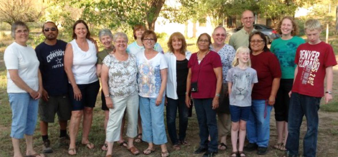 LWML grp w Navajo staff July 2014