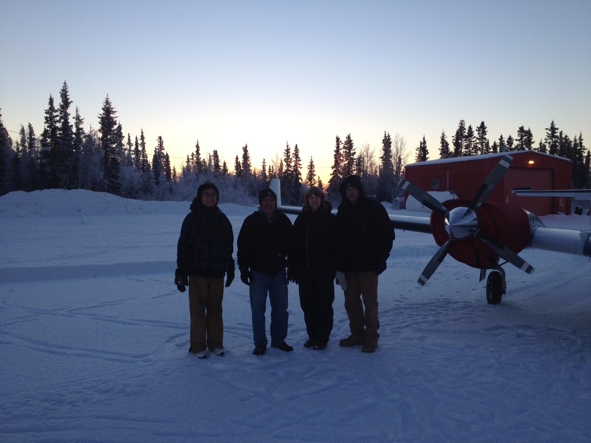Winter travel into Beaver AK a remote village Dec 2013