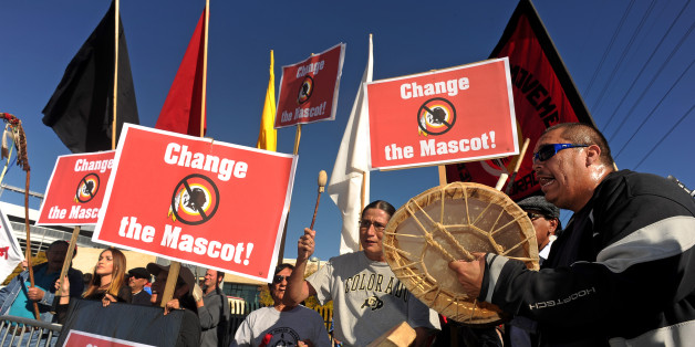 Change the Mascot protest. Photo credit: Helen H. Richardson/Getty Images
