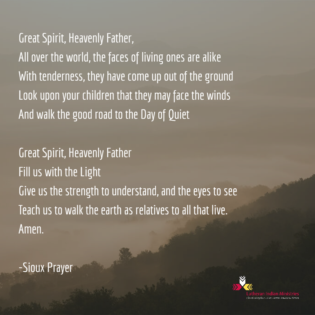 Sioux prayer for the world