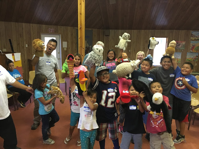 The Topsfield Team brought 15 puppets to Navajo