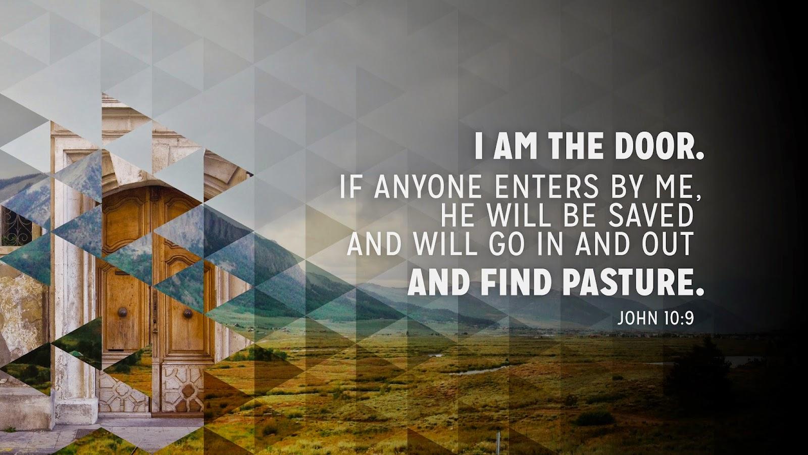 John 10:9 door of the sheep